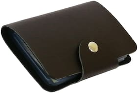 Morgencrafts Button Black Card Holder