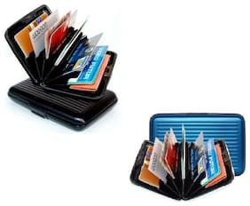 MPI Aluminum ATM Credit Card Holder Unisex Wallet - 2 pc -Assorted