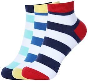 Mr.Taylorz Boys & Girls Striped Ankle Length socks (Pack of 3)