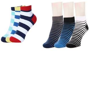 MR.TAYLORZ Multi Cotton Ankle length socks ( 6 pairs )