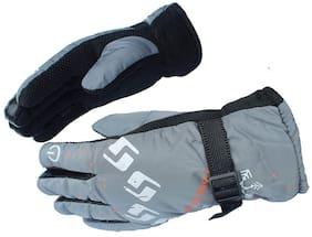 MS TRADING COMPANY Men Faux fur Glove - Grey