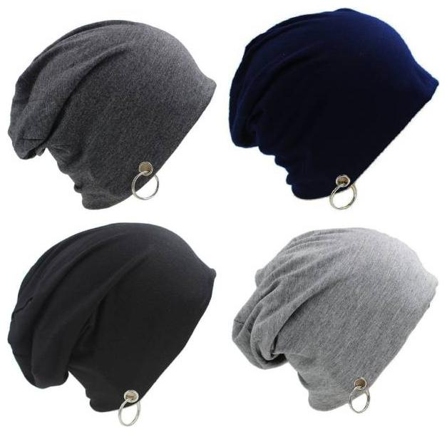 MSTC Combo of 4 Men's Cotton Beanie and Skull Cap
