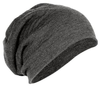 a64d3d2a9fb Buy MSTC Men s Cotton Beanie and Skull Cap (Charcoal Grey) Online at ...