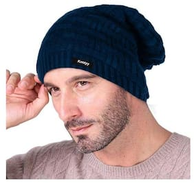 MSTC Slouchy woolen Long Beanie Cap for Winter(Assorted Design) (Color send as per availability)