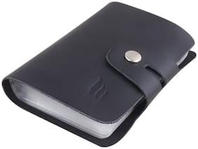 Mtuggar  Genuine Leather Credit Card Holder/Business Card Holder/ATM Card Holder for Women Men- Holds 14 Cards ( CH-08-BLK)