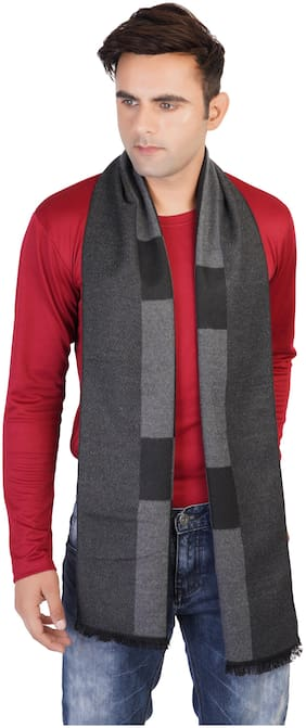 MUFFLY Men Wool Muffler - Grey