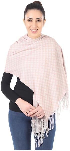MUFFLY Women Wool Stoles - Pink