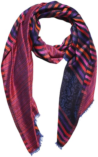 MUFFLY Women Silk Shawl - Pink