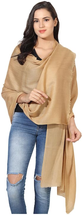 MUFFLY Women Wool Shawl - Brown