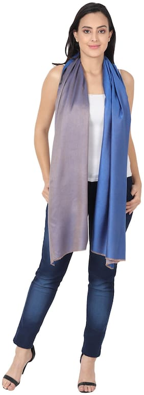MUFFLY Women Silk Stoles - Blue