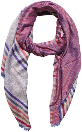 MUFFLY Women Silk Shawl - Pink