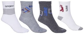 Multi Color Cotton Unisex Ankle Socks Set of 4 Pair