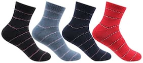 Multicolor Ankle Length Pack of 4 pairs Socks