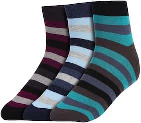 Men Crew Length Socks Pack of 3 ( Red )