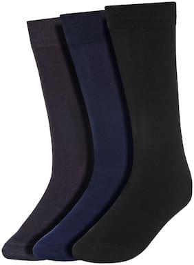 Men Calf Length Socks Pack of 3 ( Multi )