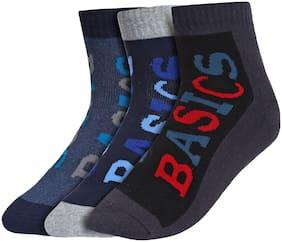 Men Crew Length Socks Pack of 3 ( Black )