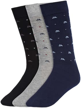 Creature Multi Cotton Calf length socks ( 3 pairs )