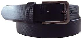 National Leathers Black Formal Printed Belt for Men's