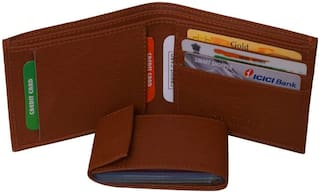 NEW HIGH QUALITY GENUINE MEN S LEATHER WALLET (BROWN)
