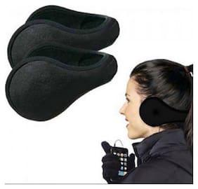 New Ladies Mens Black Earmuffs Winter Fleece Head Band Ear Muff Soft Warmers
