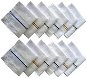 NEWMAN Men's 100% Cotton Handkerchief For Men Set of 12 pcs_size: 44 44 cm