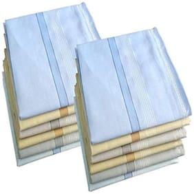 NEWMAN Men's 100% Cotton Handkerchief For Men Set of 12 pcs_size: 45 45 cm(Multicolor with Strips)