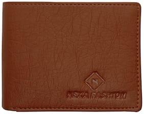 NEXA FASHION Men Tan Synthetic leather Bi-Fold Wallet ( Pack of 1 )