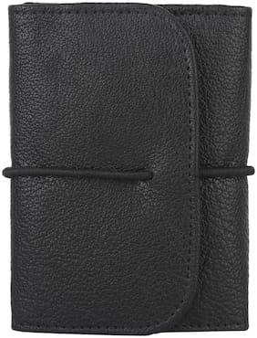 NUKAICHAU Men Leather Card holder - Black , Pack of 1