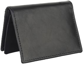 NUKAICHAU Men Leather Card holder - Black , Pack of 1