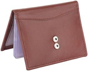 NUKAICHAU Men Leather Card holder - Brown , Pack of 1