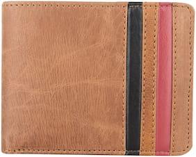 NUKAICHAU Men Brown Leather Bi-Fold Wallet ( Pack of 1 )