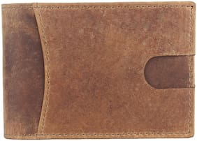 NUKAICHAU Men Brown Leather Bi-Fold Wallet ( Pack of 1 )