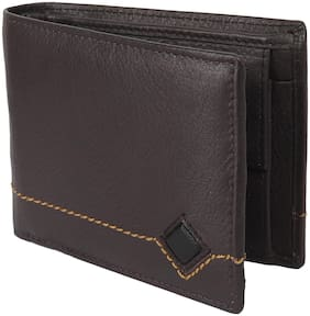 NUKAICHAU Men Brown Leather Long Wallet ( Pack of 1 )