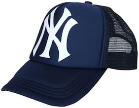 ODDEVEN Half Net NY Blue, Baseball, Trucker Caps, Mesh Cap