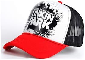ODDEVEN Half Net Linking Park Red, Baseball, Trucker Caps, Mesh Cap