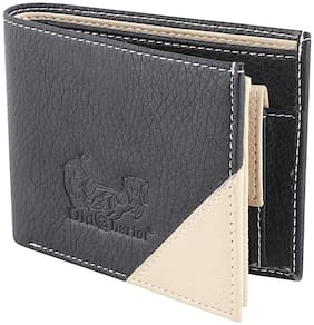 Old Chariot Men Black Artificial Leather Wallet  (6 Card Slots)