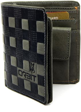 Orbit Men Assorted Pu Tri Fold Wallet ( Pack of 1 )