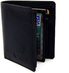 Orbit Men Black Synthetic leather Tri Fold Wallet ( Pack of 1 )