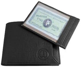 FRIENDS & COMPANY Men Black Leather Bi-Fold Wallet ( Pack of 1 )