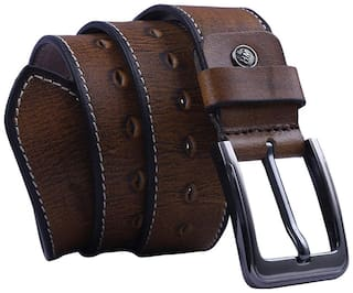 Ox Rodeo Men Tan Leather Belt (Size: 34 , Pack of 1 )