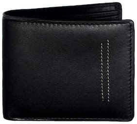 Ox Rodeo Men Black Leather Bi-Fold Wallet ( Pack of 1 )