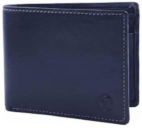 Ox Rodeo Men Blue Leather Bi-Fold Wallet ( Pack of 1 )