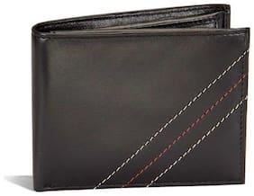 Ox Rodeo Men Black Leather Bi-Fold Wallet ( Pack of 1 )