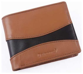 Ox Rodeo Men Brown Leather Bi-Fold Wallet ( Pack of 1 )