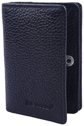 Ox Rodeo Men Leather Card holder - Black , Pack of 1
