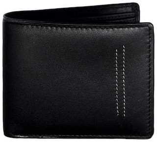Ox Rodeo Men Black Synthetic leather Bi-Fold Wallet ( Pack of 1 )