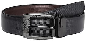 Pacific Gold Men Black Synthetic leather Belt (Size: 38 , Pack of 1 )