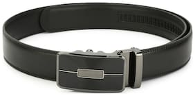Pacific Gold Men Black Leather Belt (Size: 30 , Pack of 1 )