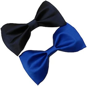 Pack Of 2 Royal blue & Black Bow Tie