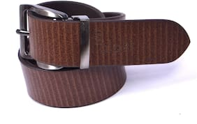 Palaki Online Services Brown Pure Leather Belt for Men
